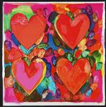 Jim Dine's Four Hearts