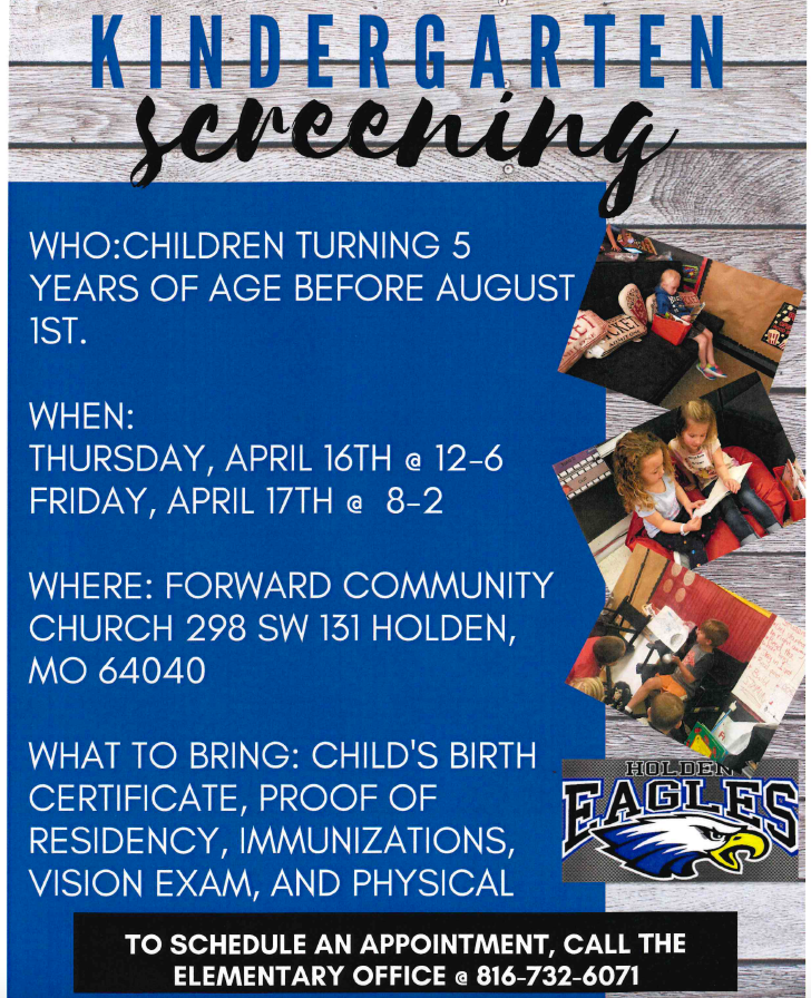 Kindergarten Screening Information is HERE!
