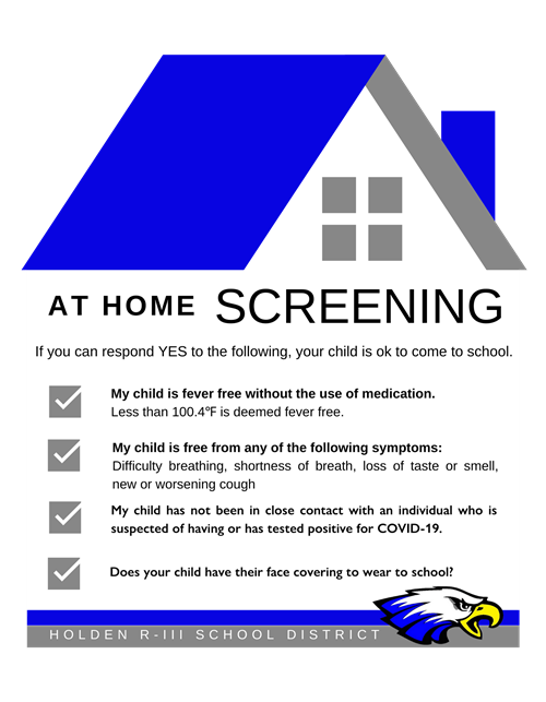 at home screening reminder graphic