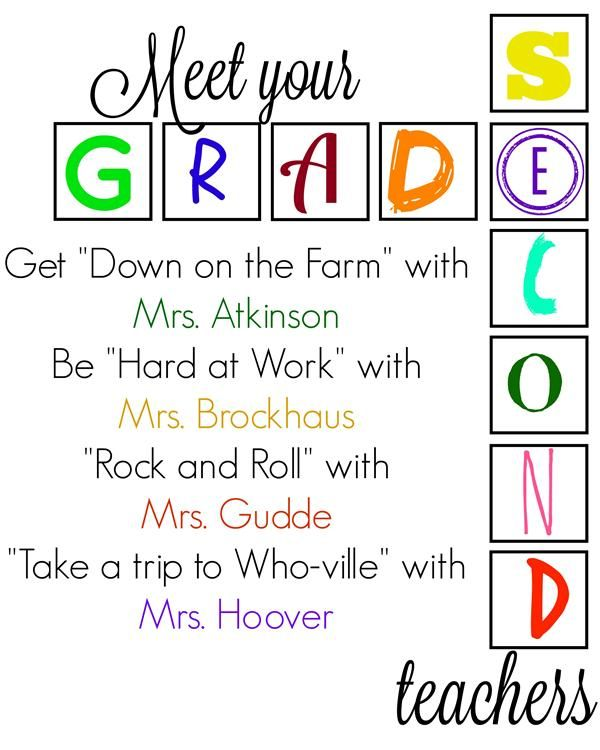 Meet your Second Grade Teachers!