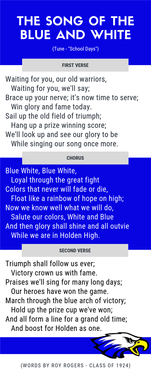 lyrics to The Song of the Blue and White